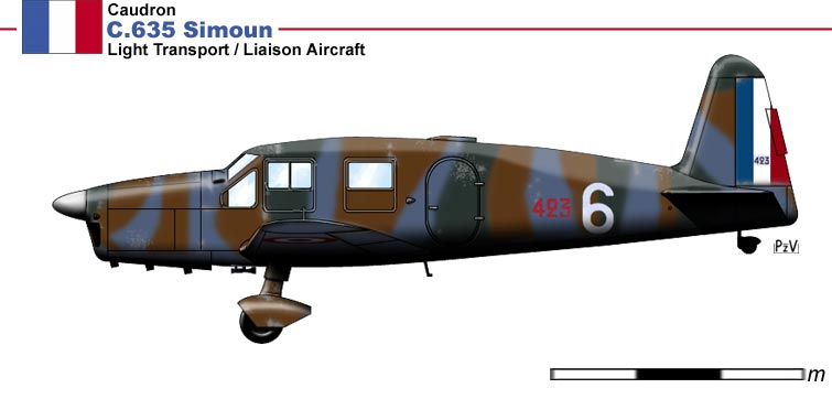 Simoun C635 - Photo du site ww2drawings.jexiste.fr