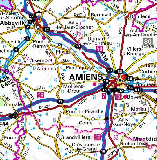 Location of Amiens prison (Geoportail)