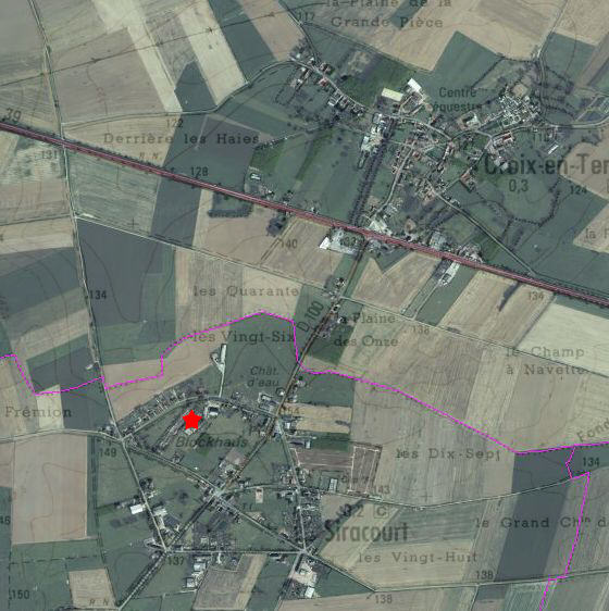 Situation Situation Blockhaus de Siracourt (Geoportail)