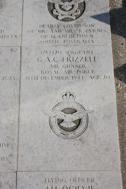 Plaque Sgt Frizzell